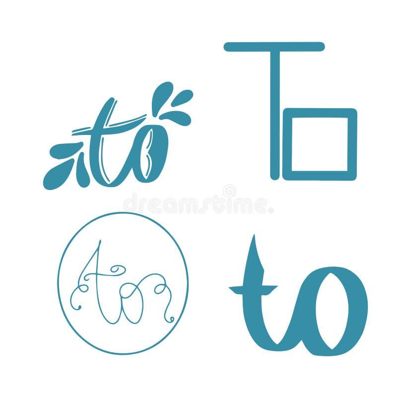 Vangstwoord aan De blauwe tekst van de Hand van letters voorziende typografie in vector Van het het manuscriptteken van de handbr vector illustratie