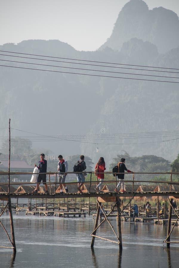 Vangviang 免版税图库摄影