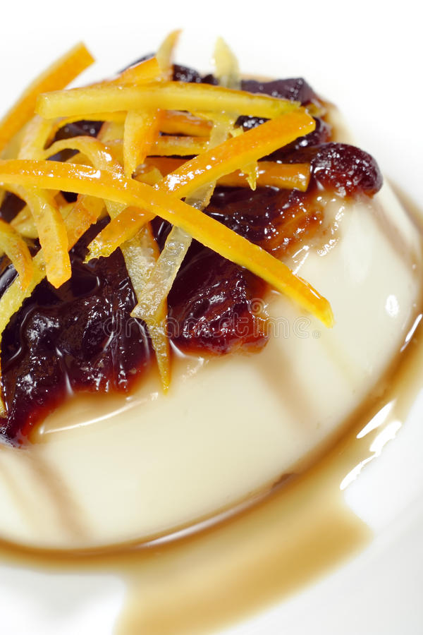 Vanilia pudding stock photos