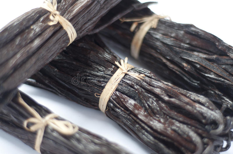 Download Vanilla bean stack stock photo. Image of spice, organic - 28309096