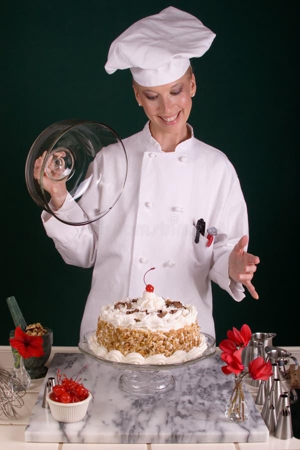 Vanilla Buttercream Chocolate Cake Royalty Free Stock Image