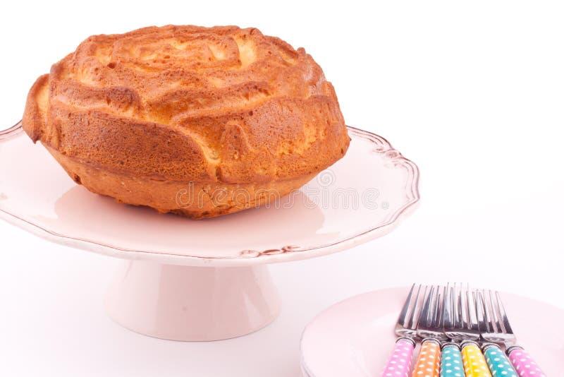 Vanilla cake royalty free stock photography