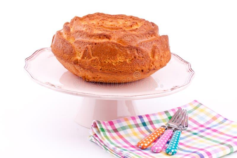 Download Vanilla cake stock photo. Image of dessert, sponge, round - 25734266