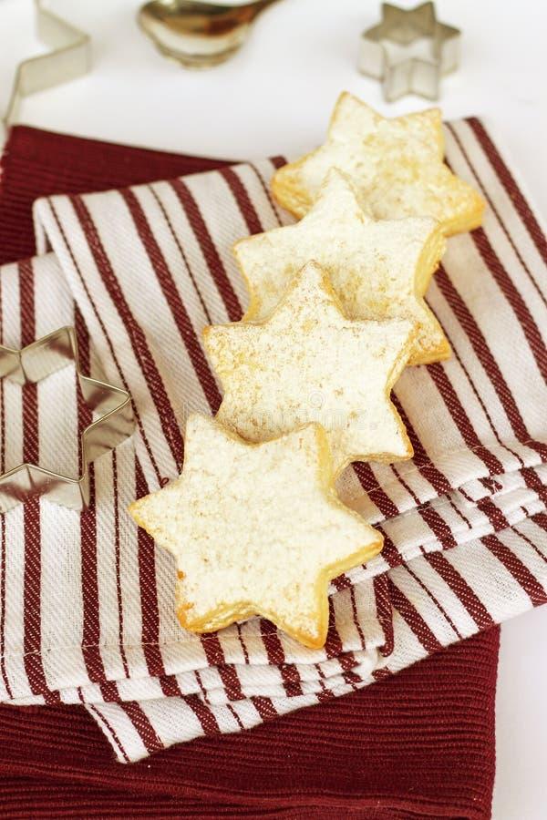 Vanilla cookies. Delicious homemade vanilla milk cookies royalty free stock images