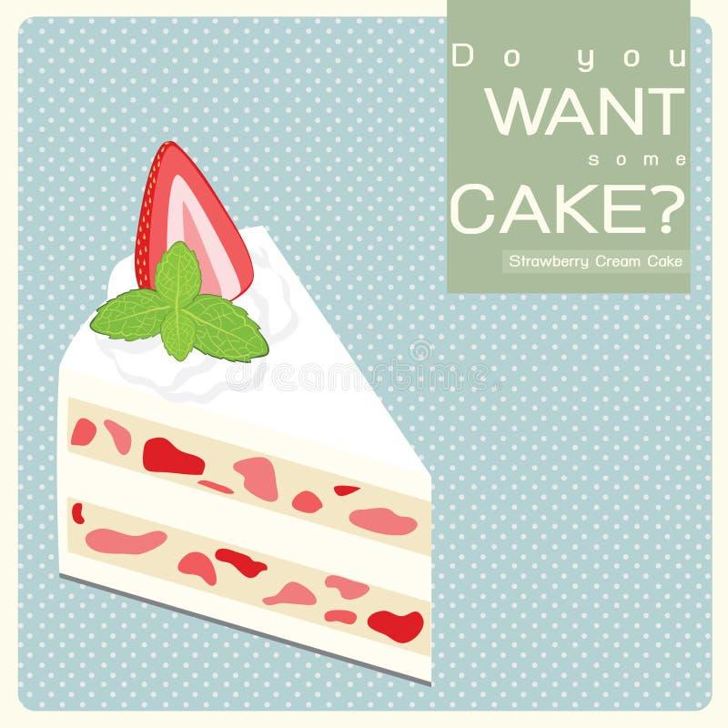 Download Vanilla Cream Cake stock illustration. Image of dots - 28534959