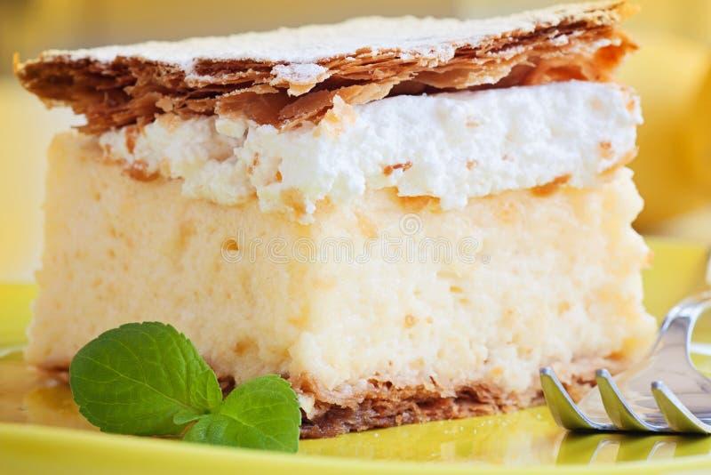 Vanilla creamy cake royalty free stock photo
