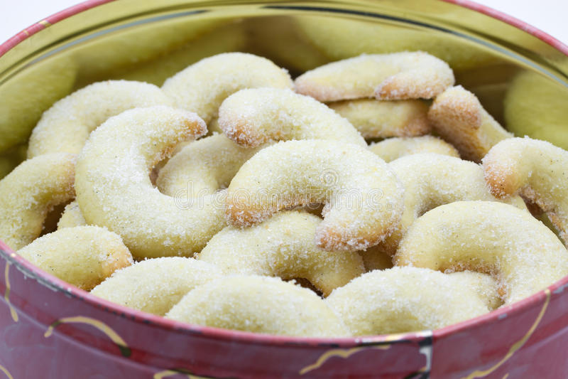 Vanilla crescent christmas cookies royalty free stock image