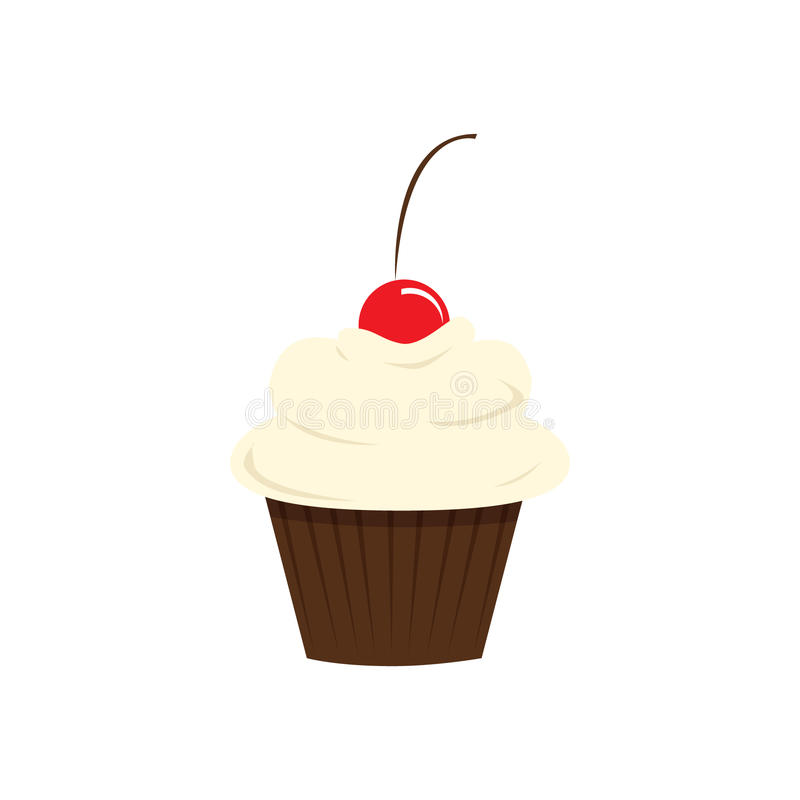 Vanilla Cupcake Royalty Free Stock Images