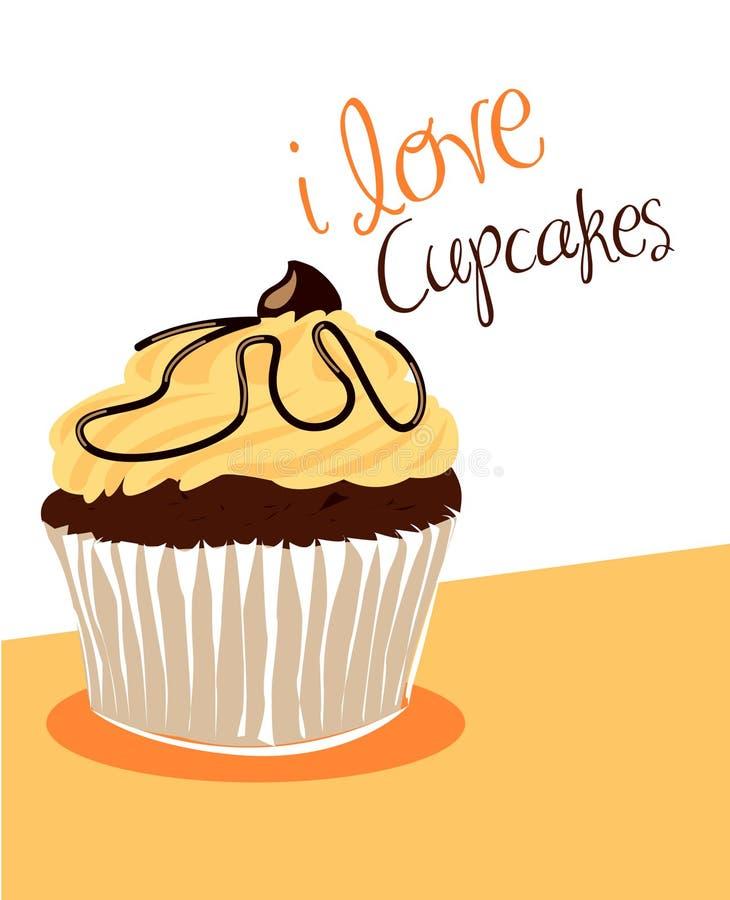 Download Vanilla cupcake stock vector. Image of sweet, delicious - 13851217