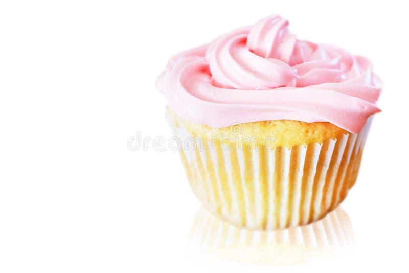 Download Vanilla Cupcake With Pink Frosting Stock Image - Image of vanilla, cupcake: 29933333