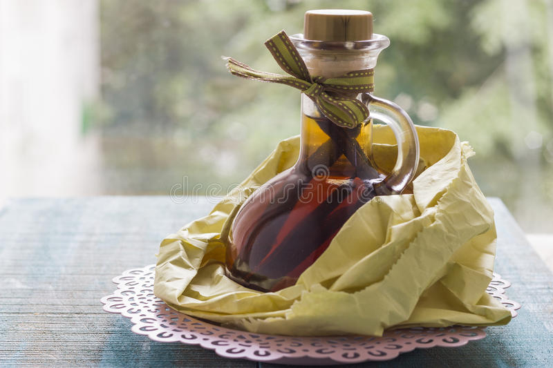 Vanilla extract royalty free stock images