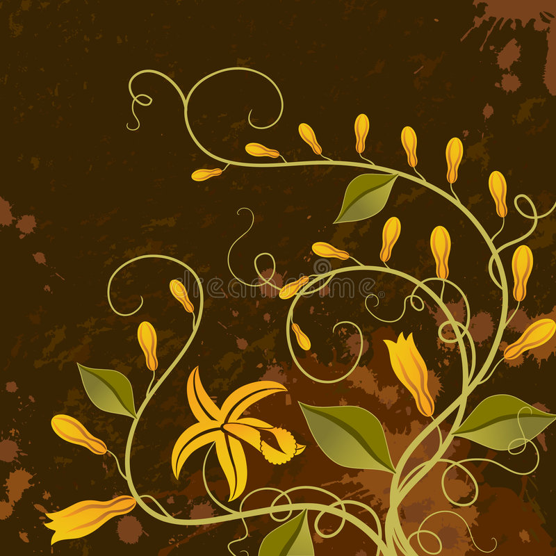 Download Vanilla. Floral Background. Stock Vector - Image: 2914660