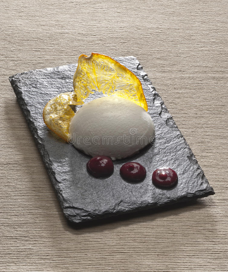 Vanilla ice cream stock photography
