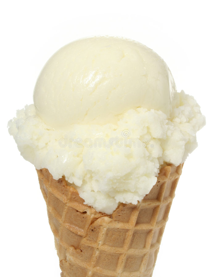 Vanilla Ice Cream Cone royalty free stock images
