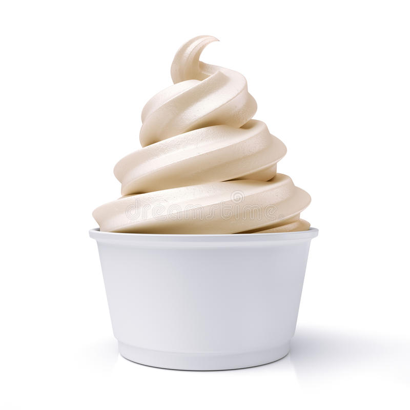 Free Vanilla Ice Cream In Paper Cup Royalty Free Stock Photos - 72550948