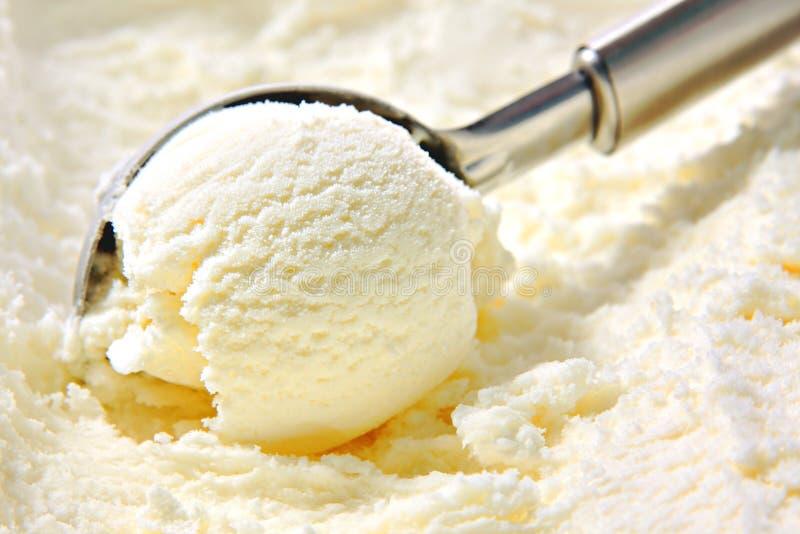 Vanilla Ice Cream Scoop royalty free stock photo