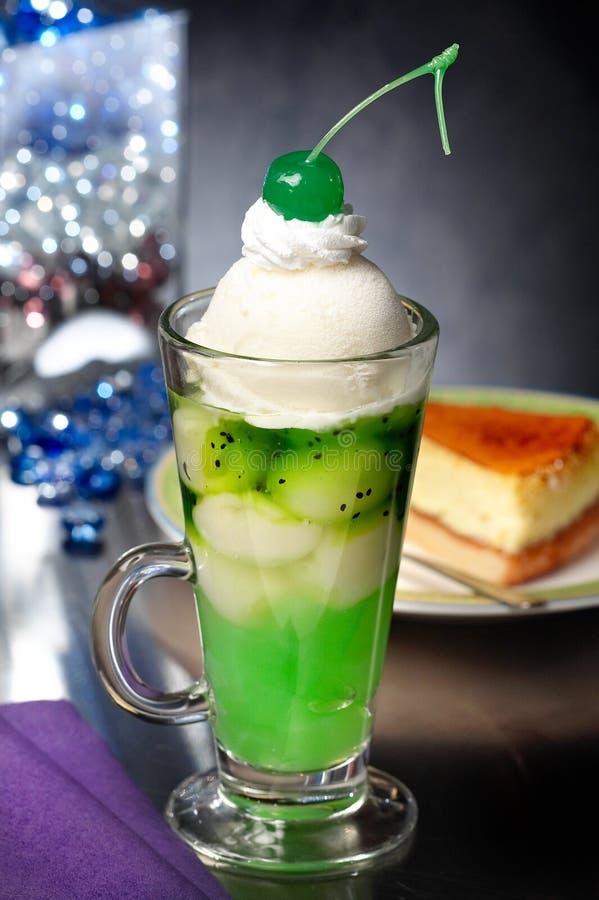 Vanilla Kiwi Sundae stock image