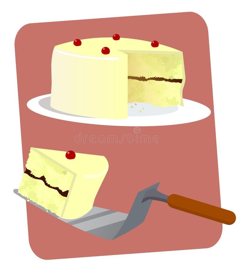 Vanilla Layered Cake Stock Photo