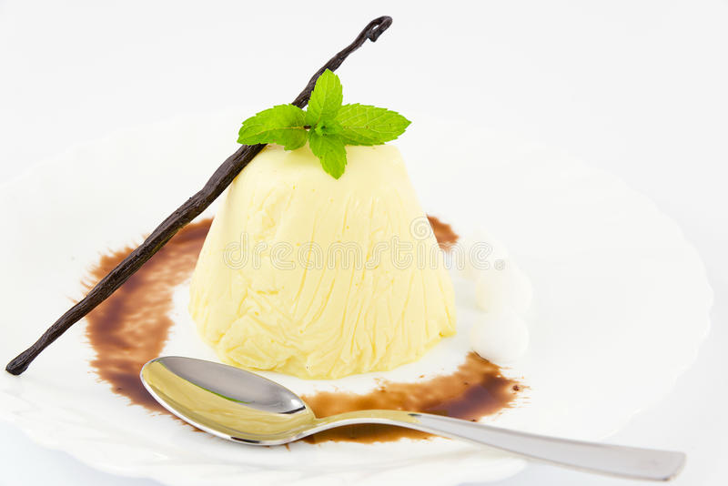 Vanilla pudding stock photo