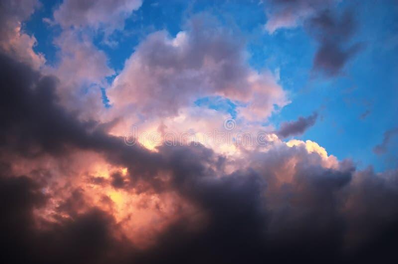 Vanilla sky in horror style royalty free stock photo