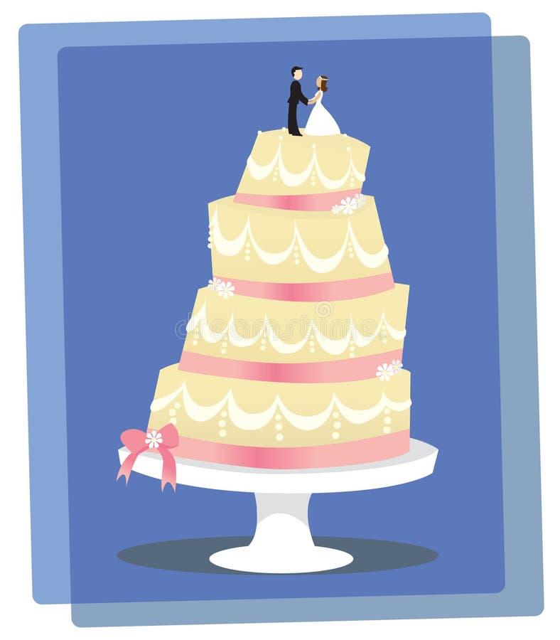 Download Vanilla Wedding Cake stock vector. Image of cartoon, tasty - 26783452