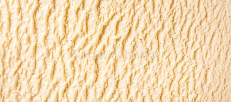 Vanille-Bourbon-Eiscreme-Detail lizenzfreie stockfotos