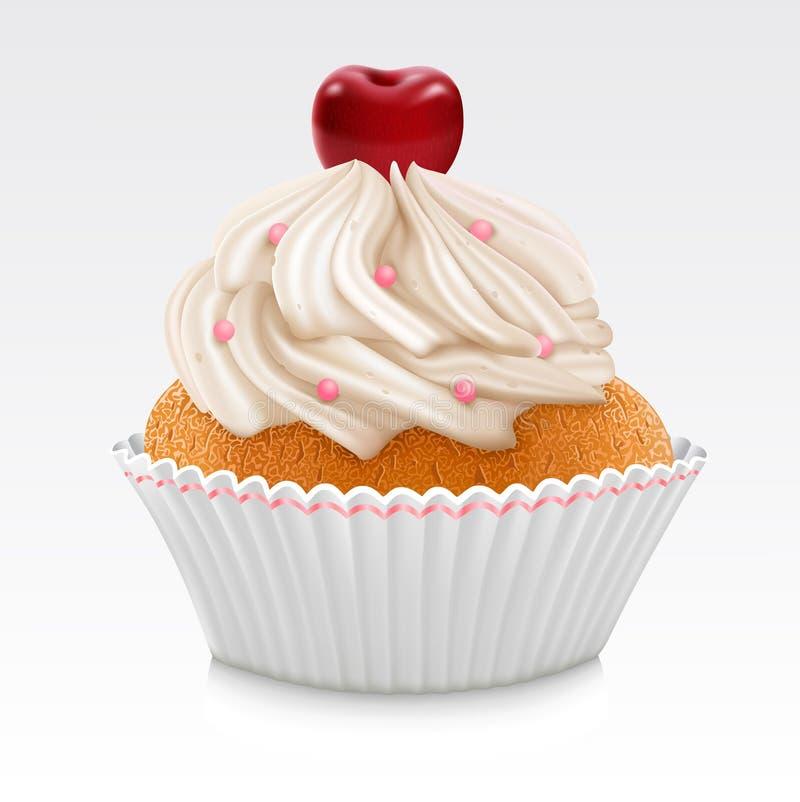 Vanille Cupcake royalty-vrije illustratie