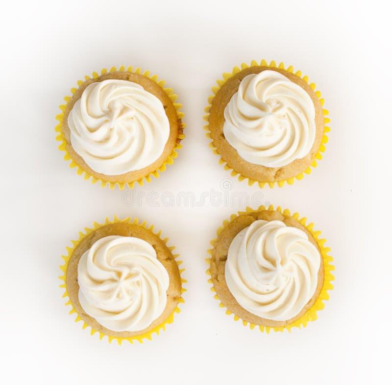 Vanille cupcakes stock fotografie