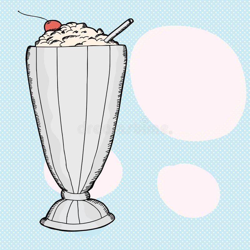 Vanille-Milchshake vektor abbildung