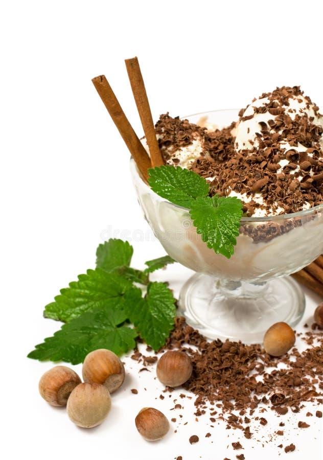 Vanille- und KaffeeEiscreme lizenzfreie stockfotografie