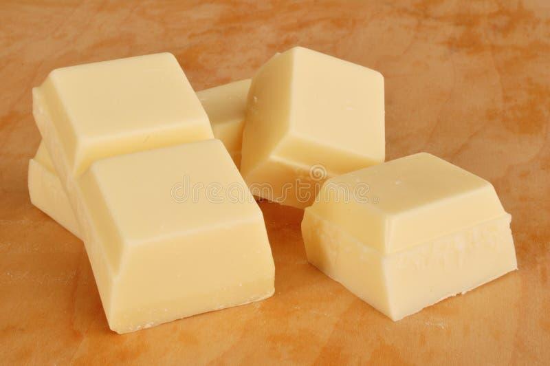Vanille würzte Mandel-Barke (weiße Schokolade) lizenzfreie stockfotos