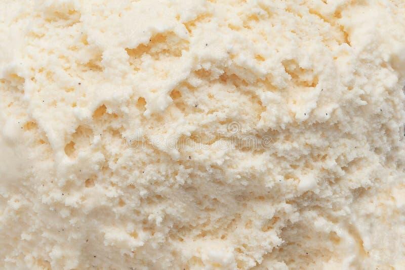 Vanilleroomijs als achtergrond Oppervlakte van het de zomer de abstracte Witte roomijs stock afbeeldingen