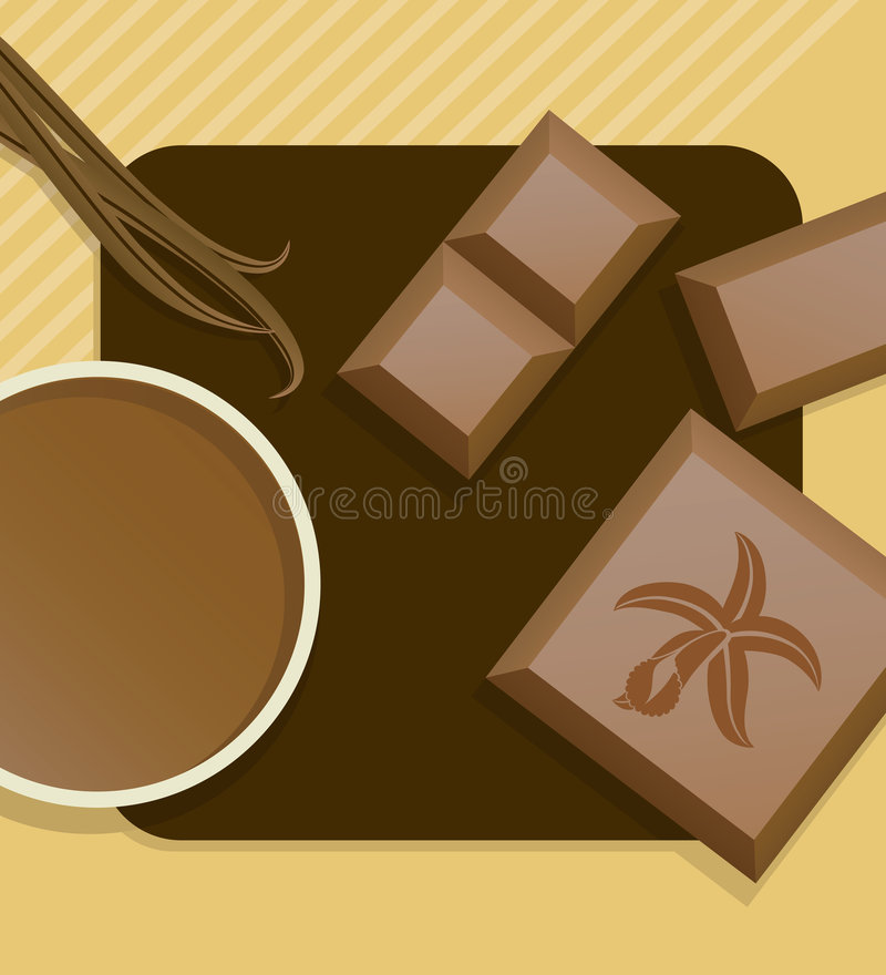 Vanilleschokolade. stock abbildung