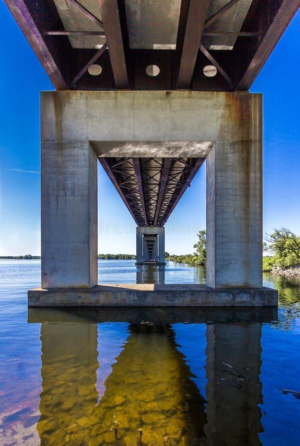 Vanishing point bridge royalty free stock photos