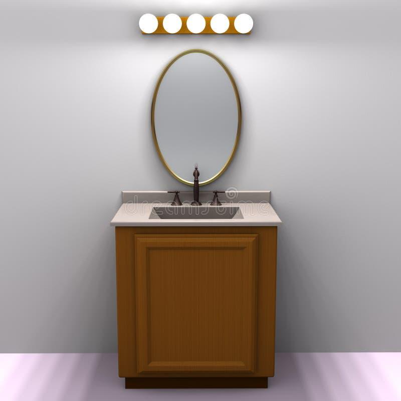 Vanità della stanza da bagno illustrazione vettoriale