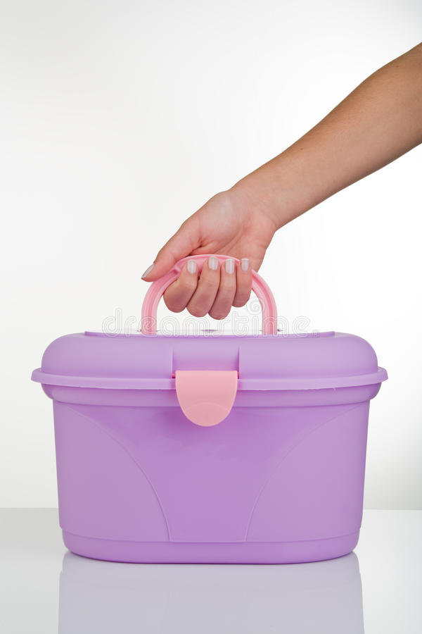 Download Vanity Case stock image. Image of cosmetic, handle, hand - 12943959
