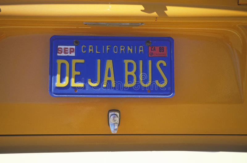 Vanity License Plate - California royalty free stock photo
