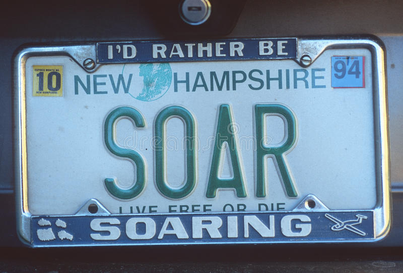Vanity License Plate - New Hampshire royalty free stock photos