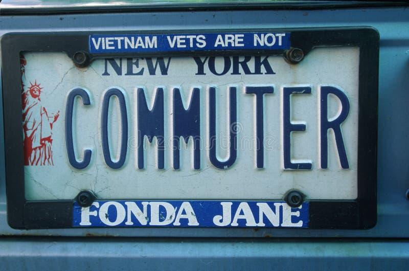 Vanity License Plate - New York royalty free stock image