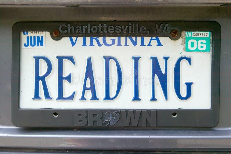 Vanity License Plate - Virginia stock images
