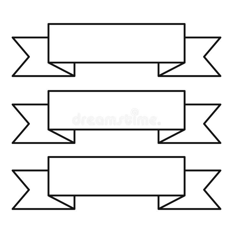 Vanlig bandsymbol, översiktsstil royaltyfri illustrationer