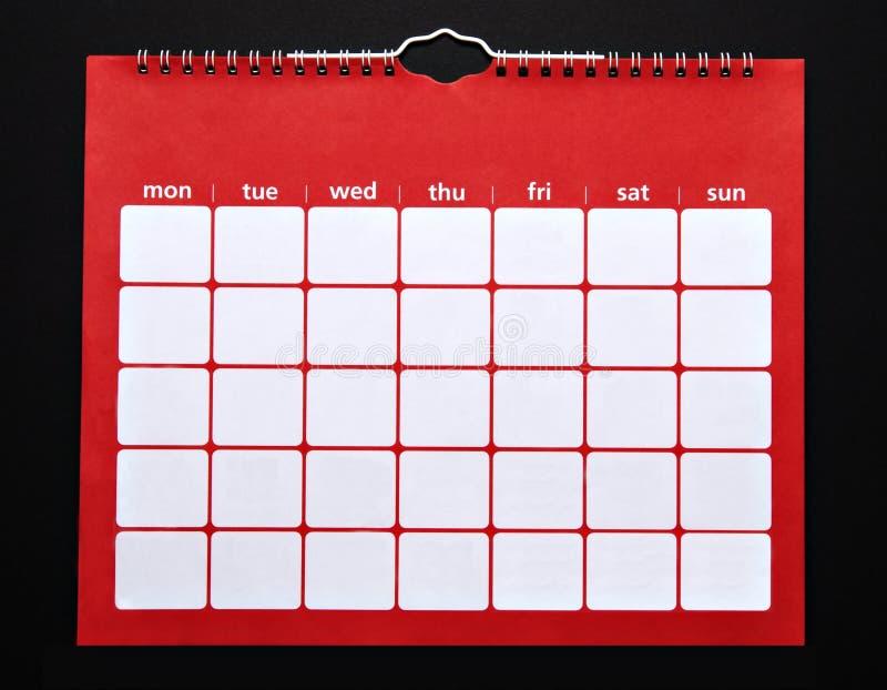 Vanlig kalender arkivbilder