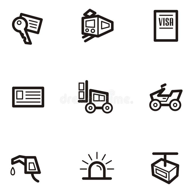 vanlig serietransport för symbol vektor illustrationer