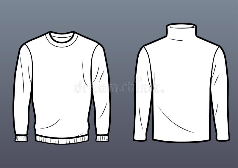Vanlig tröja och halvpolokrage royaltyfria bilder