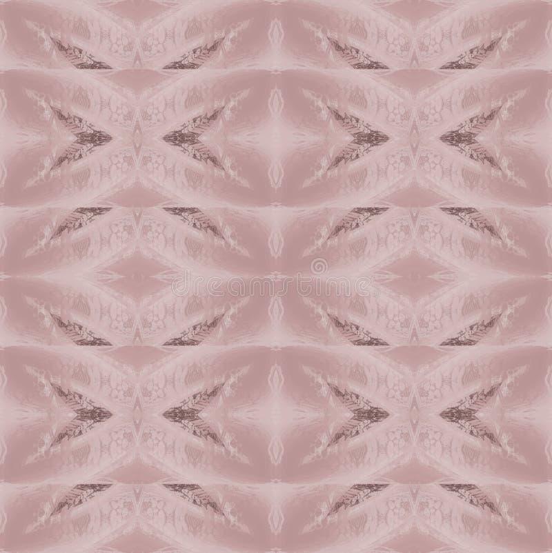 Vanliga delikata diamantmodellrosa färger och mörkt brunt sömlöst och horisontellt royaltyfri illustrationer