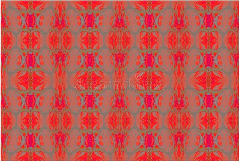 Vanliga ellipser mönstrar röd orange blå grå terrakotta stock illustrationer