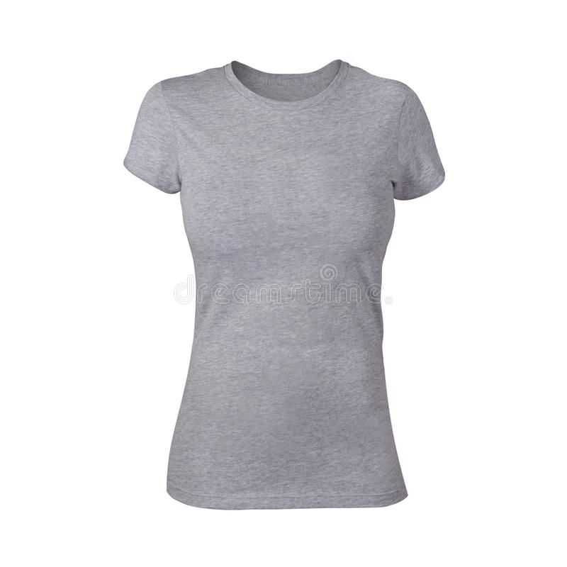 Vanliga Grey Woman Shirt arkivfoto
