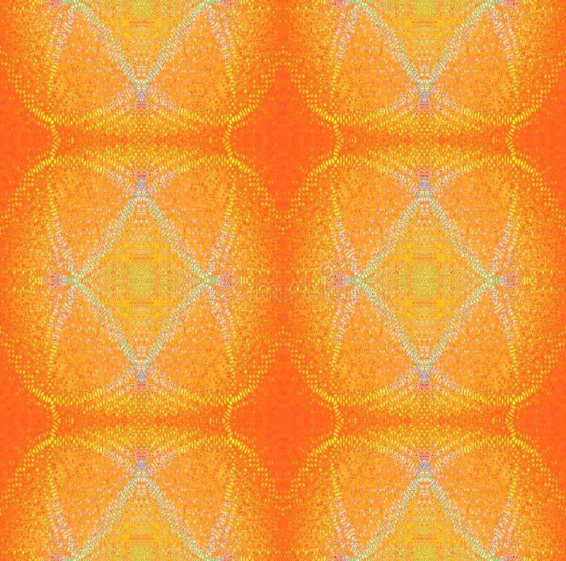 Vanliga moderna prydnader gulnar apelsinen med violet- och turkosbeståndsdelar royaltyfri illustrationer