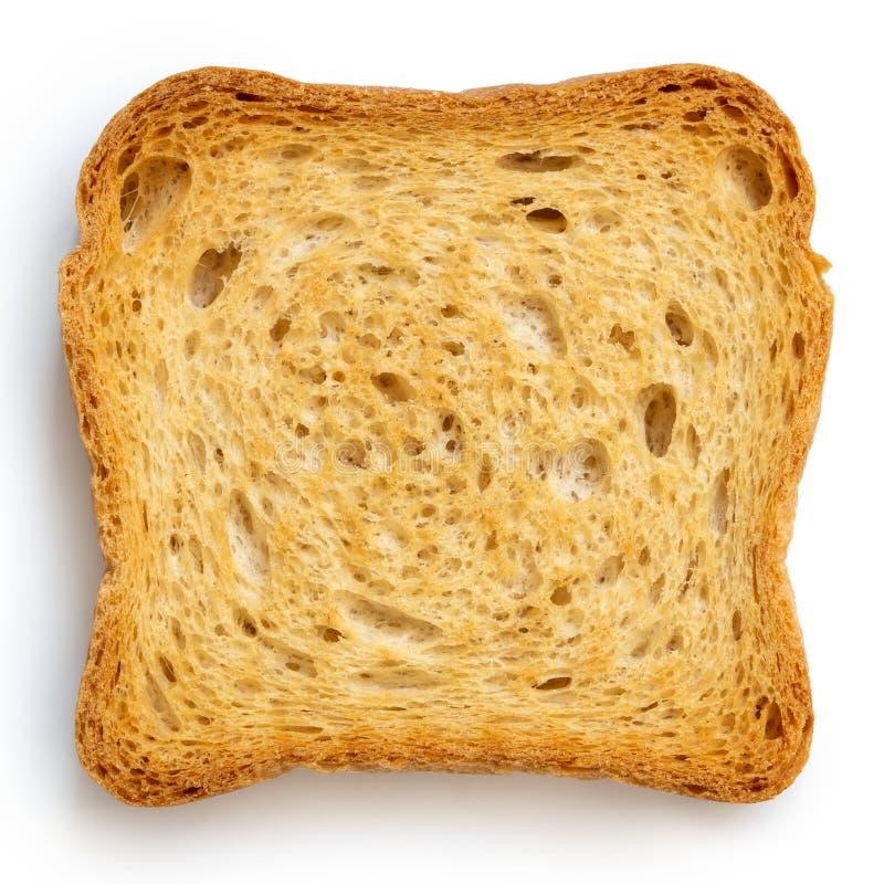 Vanligt melbarostat bröd som isoleras på vit från över royaltyfri bild