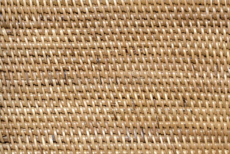 Vannerie texturisée en bois décorative abstraite Fond de texture de panier photos stock